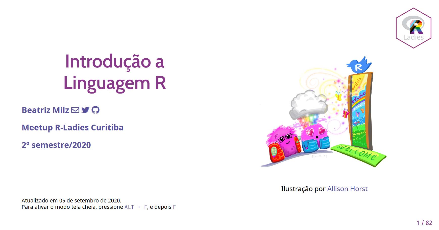 Primeira imagem do slide sobre Introdução ao R